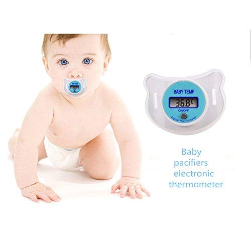 Amazon.com : Generic Health Monitors Baby Nipple Thermometer Termometro Baby Pacifier LCD Digital Mouth Nipple Pacifier Chupeta Termometro Testa : Baby