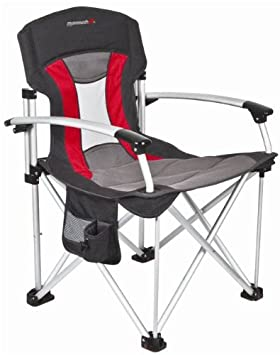 basecamp by mr heater mammoth deluxe aluminum chair blk gry red