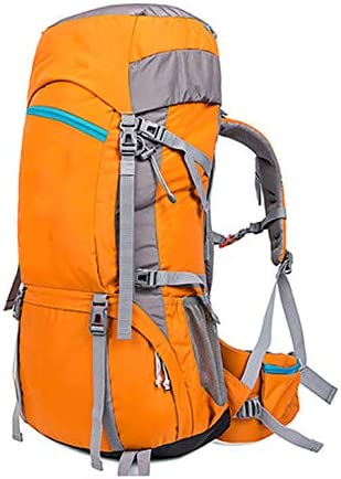 60Lアウトドアスポーツハイキングバックパック、 ナイロン布、 ロッククライミング/観光、 男性と女性,Orange