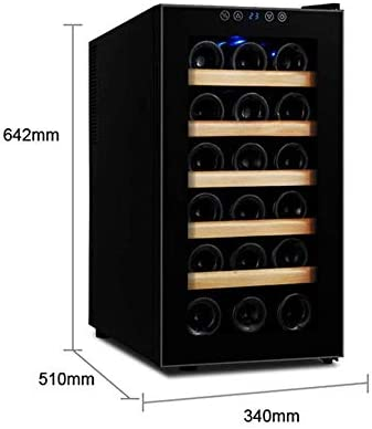 Gabinete termoeléctrico para vinos, Seis Pisos con Capacidad para 18 Botellas de Vino 10-18 ℃ Pantalla táctil Externa 0.27KW H / 24H