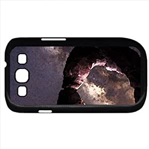 Galaxy View from Below (Sky Series) Watercolor style - Case Cover For Samsung Galaxy S3 i9300 (Black)