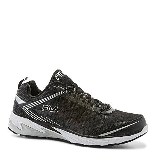 Fila Men's Lazerlite Energized Athletic Sneakers, Black Leather, 12 M (Fila Coolmax Memory Foam Men)