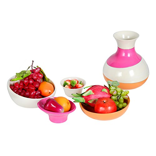Mixing Bowl 4 Piece Stackable Multifunction Fruit Basket Serving Bowl Set