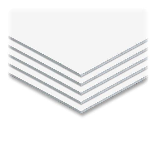 Elmer's Foam Board, White Surface with White Core,8x10, 10 Boards/Carton