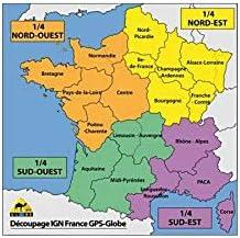 carte nord ouest france Motodak Carte IGN GPS Globe 1/4 France Nord Ouest 1/25000e: Amazon
