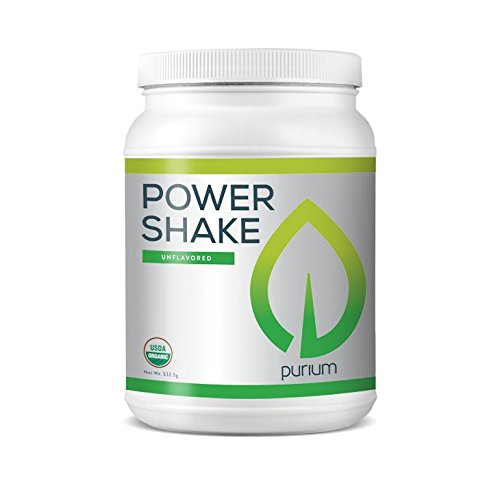 Power Shake - Purium Power Shake, Original, 15 Servings, Pure and Raw Phytonutrients, Supports Healthy Cholesterol and Blood Glucose Levels, Organic, Gluten Free, Vegan