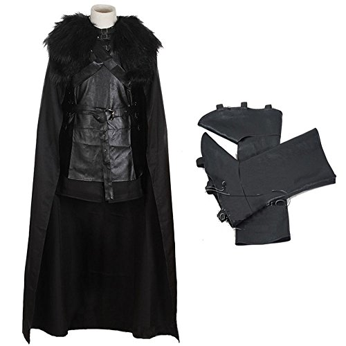 CCHLO Halloween Costume Jon Snow Outfit Game of Thrones Knights Watch Cosplay for Men