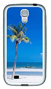 Custom Case for Samsung Galaxy S4 Beach Custom Design Samsung Galaxy S4 / SIV / I9500 Case Cover TPU White