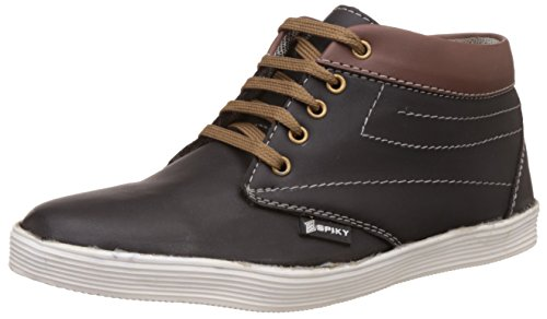 Spiky Men's Black and Tan Sneakers - 9 UK/India (43 EU)(SPS7018)