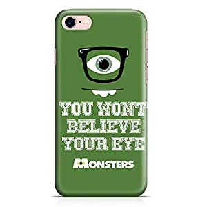 Loud Universe Mike Wazowski Quote iPhone 7 Case Monsters University iPhone 7 Cover with 3d Wrap around Edges
