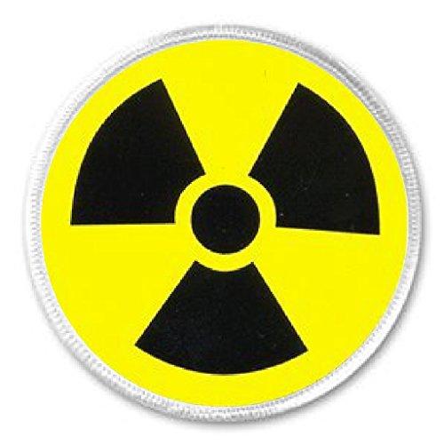 """[Radioactive Symbol 3"""" Sew On Patch Hazard Caution Lab Radiation Zombie Costume] (Radioactive Zombie Costume)"""