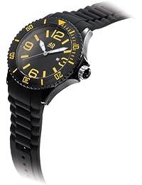 Men's 40NINE01/BLACK/O Extra Large 50mm Analog Display Japanese Quartz Black Watch
