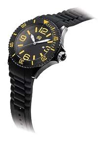 40Nine Unisex 40NINE02/BLACK/O Large 45mm Analog Display Japanese Quartz Black Watch