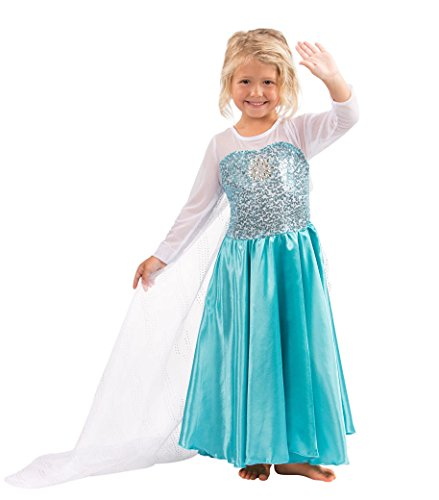 Butterfly Craze Girls Snow Queen Costume Snow Princess Dress - 5 Years -