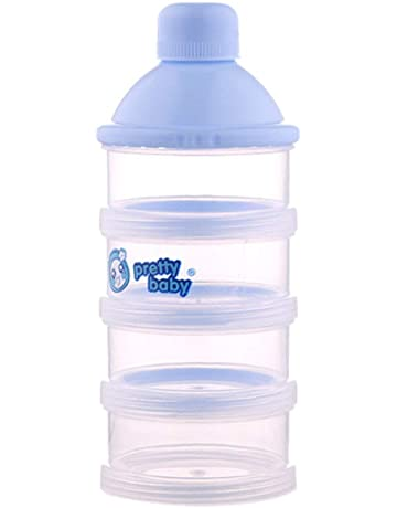 Caja de Leche en Polvo Multicolor Botella de 4 Capas para Bebé Comida Caja