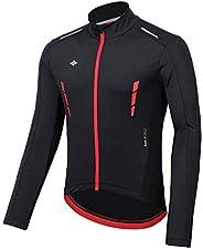 Santic Winter Cyclng Jakets for Men Thermal Bike Running Jacket Windproof Breathable Windbreaker