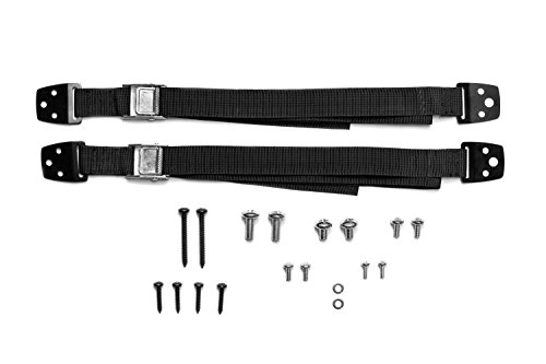 TV and Furniture Anti-Tip Straps Heavy Duty Strap and All Metal Parts | All Flat Screen TV/Furniture Mounting Hardware Included | No Plastic Parts (2 Pack, Black)