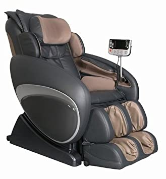 heated massage chair. OS-4000 Zero Gravity Heated Reclining Massage Chair Upholstery: Brown/Black A