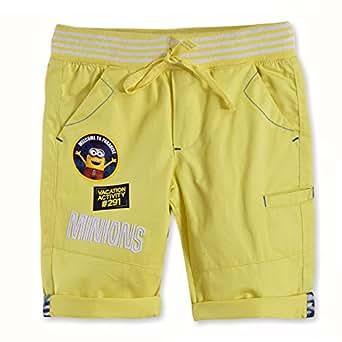 Minions Boys Woven Bermuda, Yellow