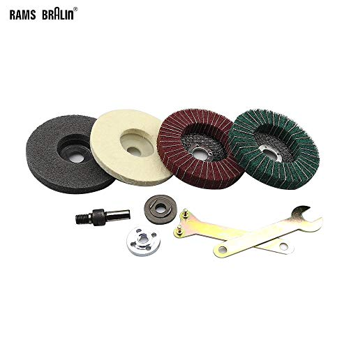 Maslin Stainless Steel Aluminium Grinding Polishing Kit fit for Drill DIY Angle Grinder Bulgarian Flap Disc