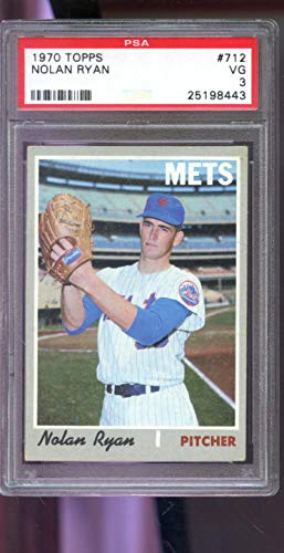 - 1970 Topps #712 Nolan Ryan New York Mets MLB VG PSA 3 Graded Baseball Card