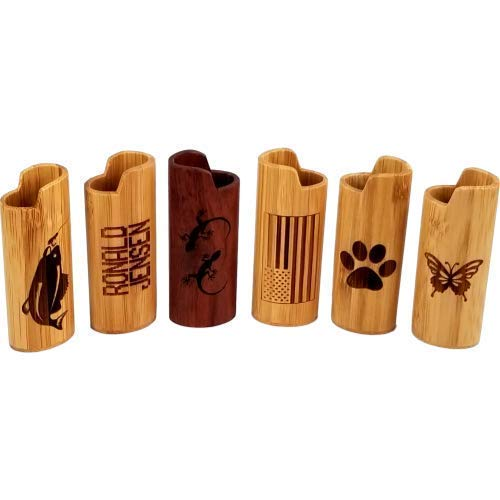 Lighter Cover Bamboo wood Fully Customizable - add Custom Name & Free -