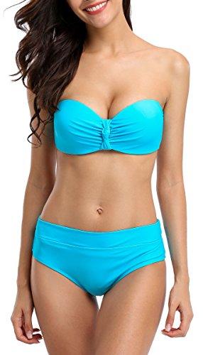 Blue 2 Piece Swimsuit - 5