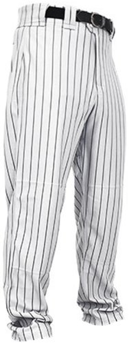 Rawlings Men's Relaxed Fit BP95MR Pinstriped Pant, White ...