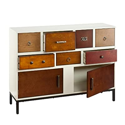 Southern Enterprises Holly & Martin Longford Console - Features 7 drawers and 2 cabinets Vanilla cream and assorted wood finishes Assorted hardware in aged pewter, oil rubbed bronze, and antique brass finishes - living-room-furniture, living-room, console-tables - 416zbsFMHeL. SS400  -