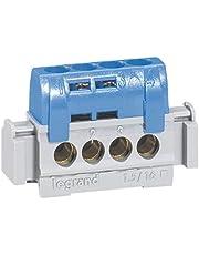 Legrand reparticion standard - Bornas neutro 4 salidas azul