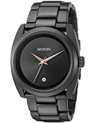 Nixon Womens A935001 Queenpin Analog Display Japanese Quartz Black Watch