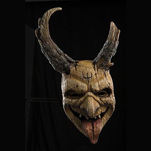 Trick or Treat Studios Krampus Window Peeper Elf Full Head Mask, Beige, One-Size