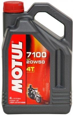 Motul 7100 4T Synthetic Ester Motor Oil - 20W50 - 4L. 836441