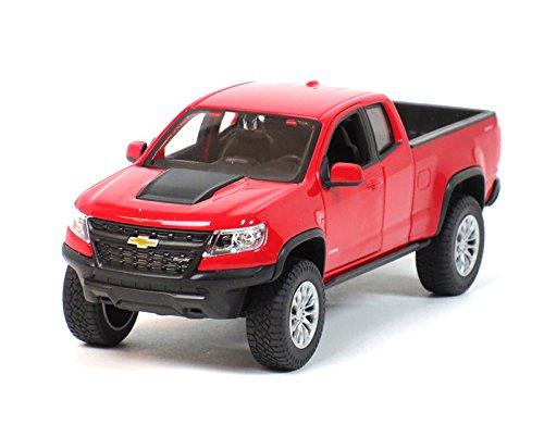2017 Chevrolet Colorado ZR2 Pickup Truck Red 1/27 Diecast Model Car by Maisto 31517