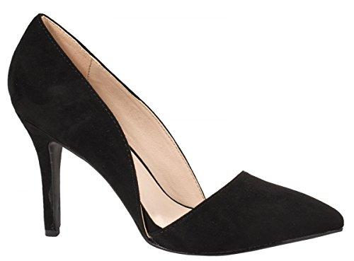 Elara Damen Pumps | Spitze Stiletto High Heels | Moderne Pumps Schwarz