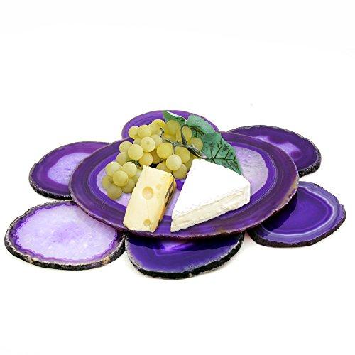 Unique & Elegant Wine & Cheese Serving Set - Authentic Brazilian Agate Platter (6.5