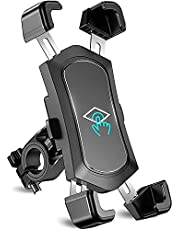"""Bike Phone Mount, TEUMI Detachable 360 Degree Rotate Motorcycle Phone Mount, Handlebar Bicycle Phone Holder Compatible with 13 Pro Max, 12, 11, 4.5-7.2"""" Phone"""