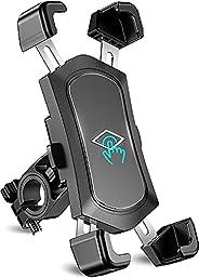 Bike Phone Mount, TEUMI Detachable 360 Degree Rotate Motorcycle Phone Mount, Handlebar Bicycle Phone Holder Co