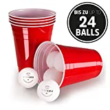 Vivaloo Red Cups; Disposable Plastic Drinking Tableware; 100 Cups