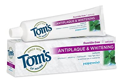 Tom's of Maine Fluoride Free Tartar Control Toothpaste, Peppermint, 5.5 oz