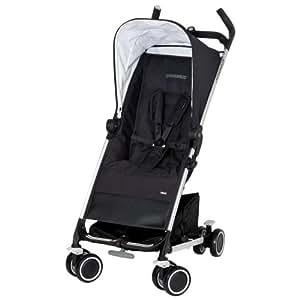 Maxi-Cosi 13053397 Noa - Silla de paseo compacta con cesta de la compra, capota, protector para la lluvia, pinza para sombrilla color negro