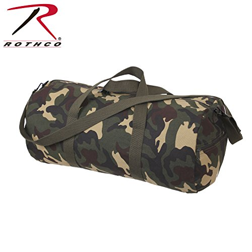 Rothco Canvas Shoulder Bag, 24'', Woodland Camo