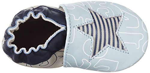 Robeez Kindergarten - Zapatillas de casa Bebé-Niñas azul (Bleu Clair)