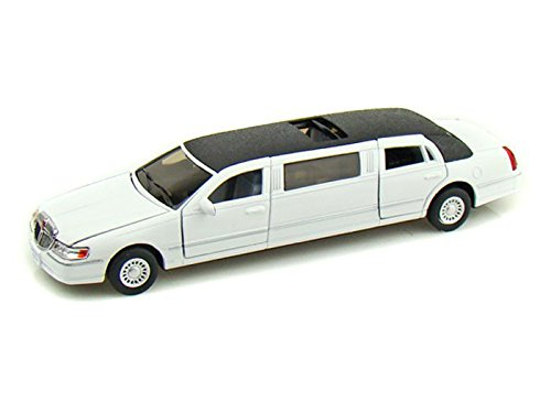 kinsmart-1-38-scale-diecast-1999-lincoln-town-car-stretch-limousine-in-color-white