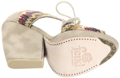 Feud Britannia Whip - Zapatos de cuero para mujer Multicolor (Multi Stripe Raffia)