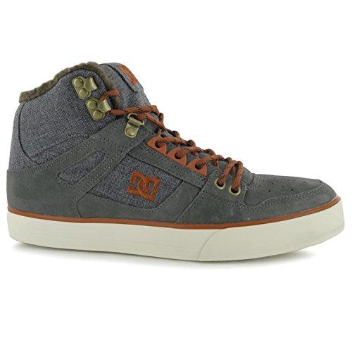 DC SPARTAN HIGH Skate zapatos para hombre gris Casual zapatillas zapatillas, gris