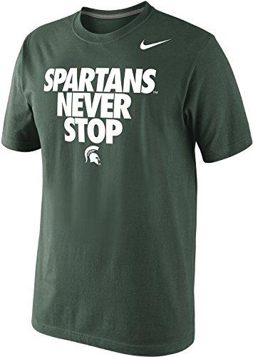Nike Michigan State Spartans Never Stop T-Shirt - Green (Medium)
