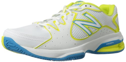 888098094114 - New Balance Women's WC786 Tennis Shoe,White/Yellow,7.5 2A US carousel main 0