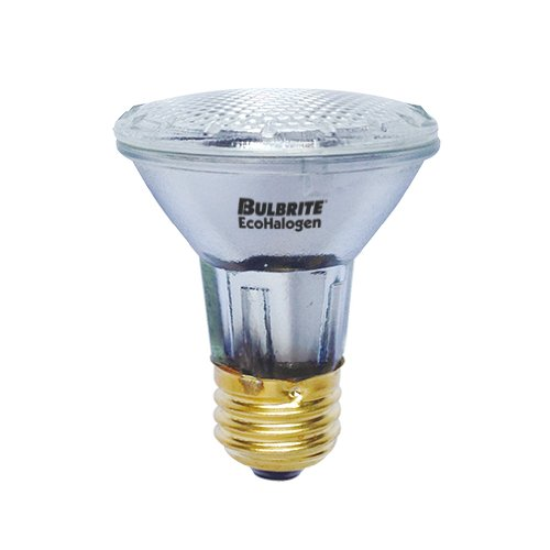 12PK Bulbrite 682433 H39PAR20FL/ECO 39-Watt ECO Halogen PAR20, 50W Halogen Equivalent, Medium (E26) Base, 120V, Flood