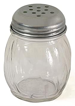 FixtureDisplays 6oz Glass Shaker – Stainless Steel Lid 19686 19686